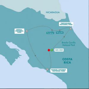 Costa Rica Family Trip Map