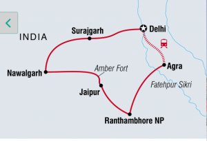 India Family Trip Map